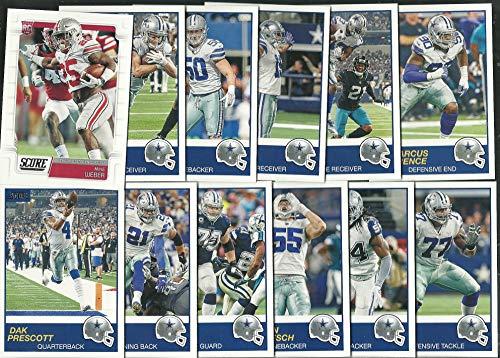 Dallas Cowboys Football - 2019 Panini Score Football Dallas Cowboys Team Set 12 Cards W/Drafted Rookies Dak Prescott Elliott
