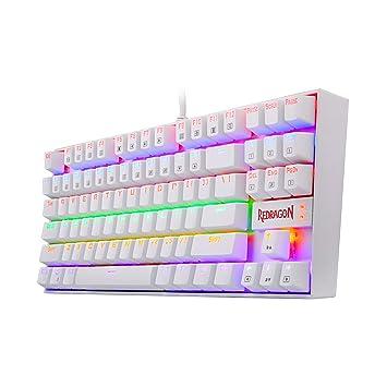Amazon.com: Redragon K552W KUMARA LED Rainbow Backlit Mechanical Gaming Keyboard Small Compact Gamers Keyboard 87 Key Metal PC Computer USB Wired Gaming ...