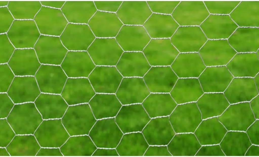 vidaXL Red de Alambre Hexagonal de 50 cm x 25 m con Recubrimiento de PVC spesor de 0,75 mm