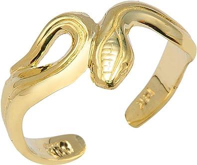 14k Open Hearts Toe Ring Length Width 4