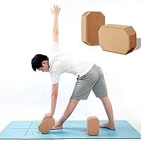 Bloque De Yoga De Corcho (Juego De 2), Protección Ambiental Natural De Alta Densidad, Flexibilidad Y Equilibrio, Peso Ligero Y Antideslizante, para Yoga, Pilates, Meditación