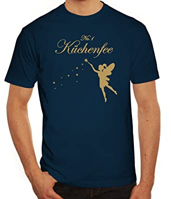 Kochen Koch Köchin Küchen Party Herren Männer T-Shirt Rundhals Fee - No. 1