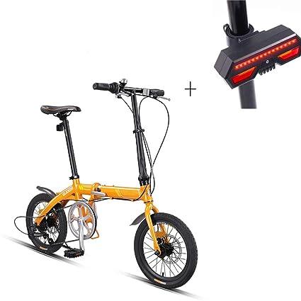 Bicicleta, Bicicleta Plegable, 16 Pulgadas 7 Velocidades, Aleación De Aluminio, Frenos De