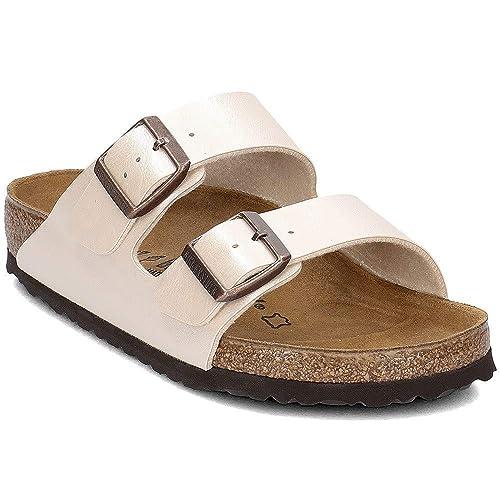 a592cc5e9485c Birkenstock Arizona Birko Flor Graceful Womens Sandals UK 3 Graceful Pearl  White