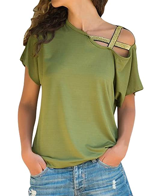 LADIES BATWING TOP WOMENS BLOUSE OPEN SHOULDER BAGGY T SHIRT TEE NEW LOOSE SHIRT