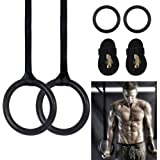 AllRight 2 Pcs Pull Up Rings Olympic Gym Equipment Crossfit Gymnastic Rings