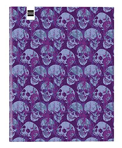 Finocam Prints - Carpeta 4 anillas diseño Skulls: Amazon.es: Oficina y papelería
