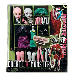 Monster High Create A Monster Werewolf & Dragon W9156