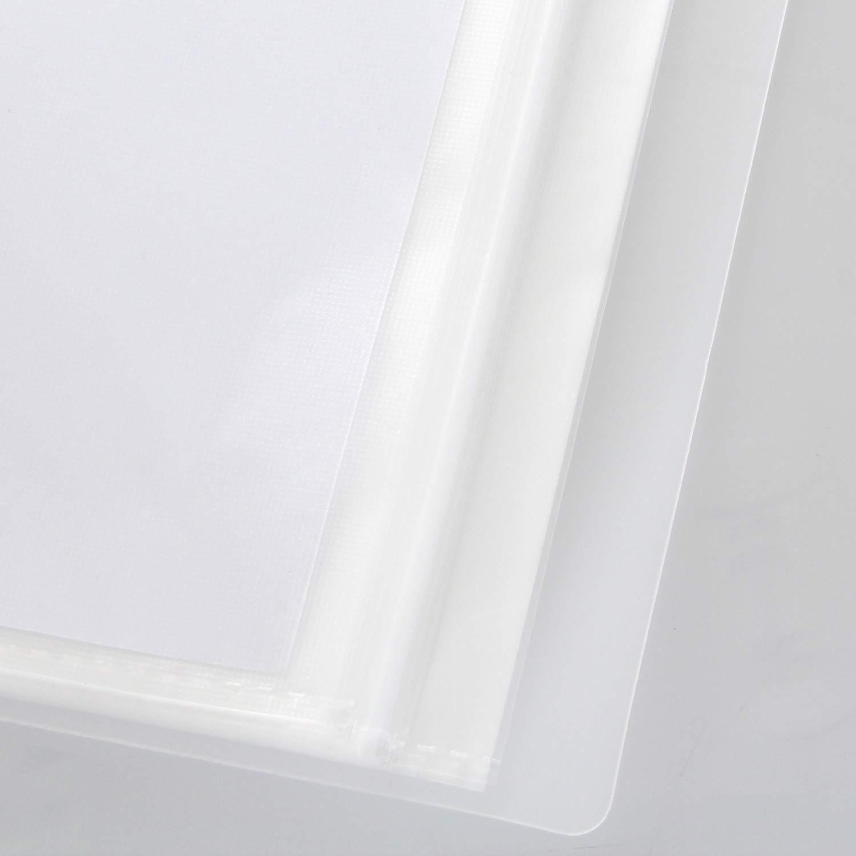 TUKA-i-AKUT TKD8032-4x traslucida copertina Set di 4 in 4 colori 4x Presentazione e archiviazione di documenti scuola casa un totale 160 Tasche Trasparenti per ufficio PP Portalistino A5