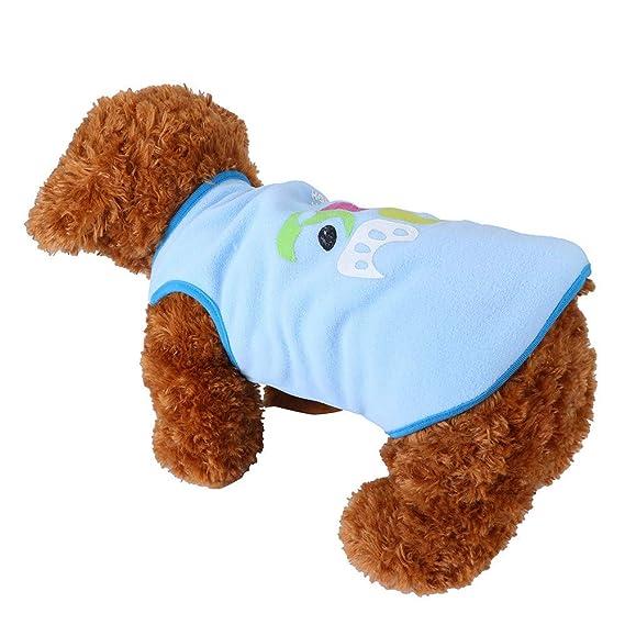 Ropa para Mascotas,Dragon868 Moda Lindo Animales Cartoon Chaleco Camisas para Perro Mascotas Ropa: Amazon.es: Ropa y accesorios