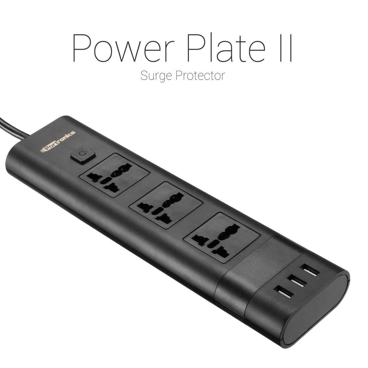 Portronics POR-671 Universal Sockets Multi Plug  with 3 USB Ports