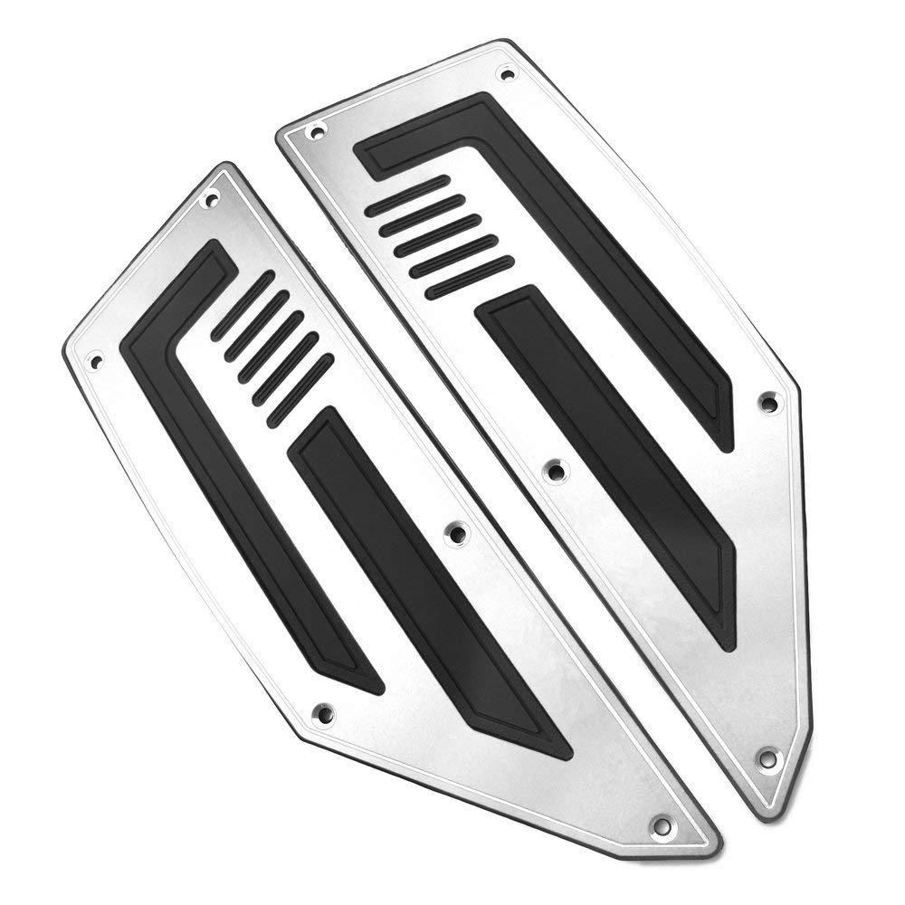 heinmo 1/juego de pedales delantero y trasero Paso reposapi/és clavijas de pie plata motociclista pie clavijas para Yamaha T Max TMAX 530