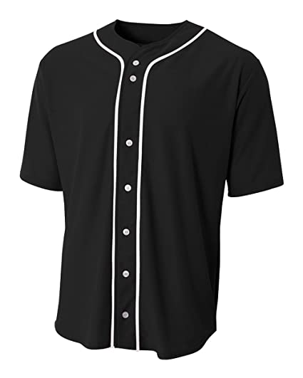8b85b647fe0 Amazon.com : Baseball Full Button Custom or Blank Wicking Jersey (8 ...
