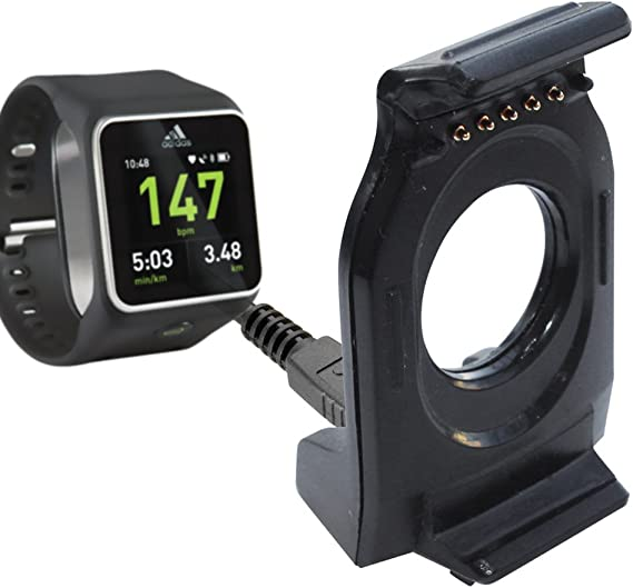 Ineficiente Sentirse mal virtual  XIEMIN Portable Charging Charger Cradle Dock for Adidas Micoach Smart Run Watch  Smart Watch (Adidas Charging Cradle): Amazon.co.uk: Watches