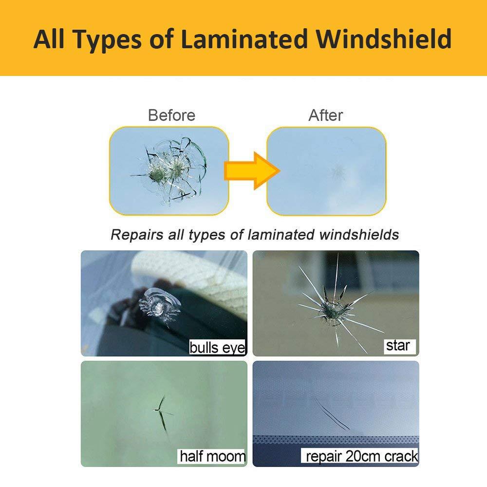 Quick Fix Auto Window Glass Windscreen Scratch Chip Crack Professional DIY Windscreen Windshield Repair Tool Set Eashy Upgrade Windshield Repair Tool