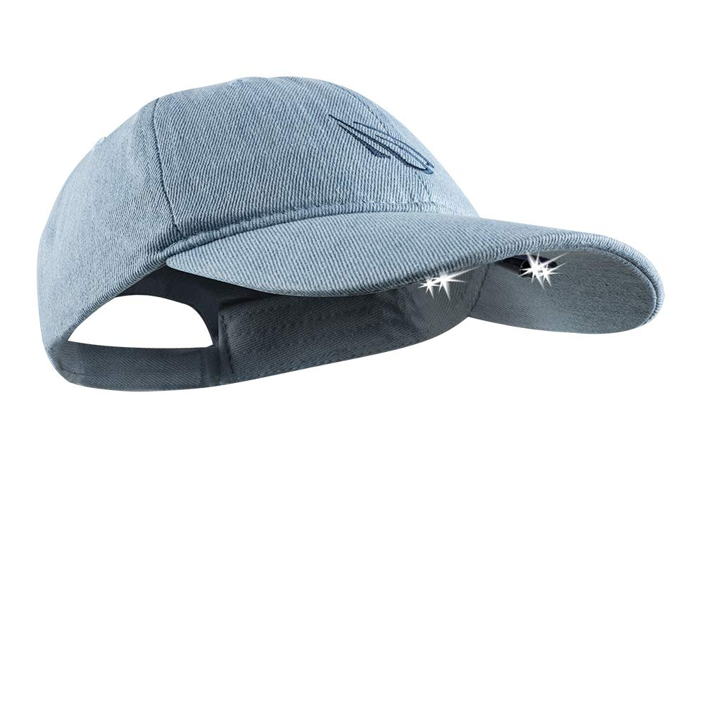 Panther Vision POWERCAP LED Hat 25/10 Ultra-Bright Hands Free Lighted Battery Powered Headlamp - Denim Unstructured Cotton
