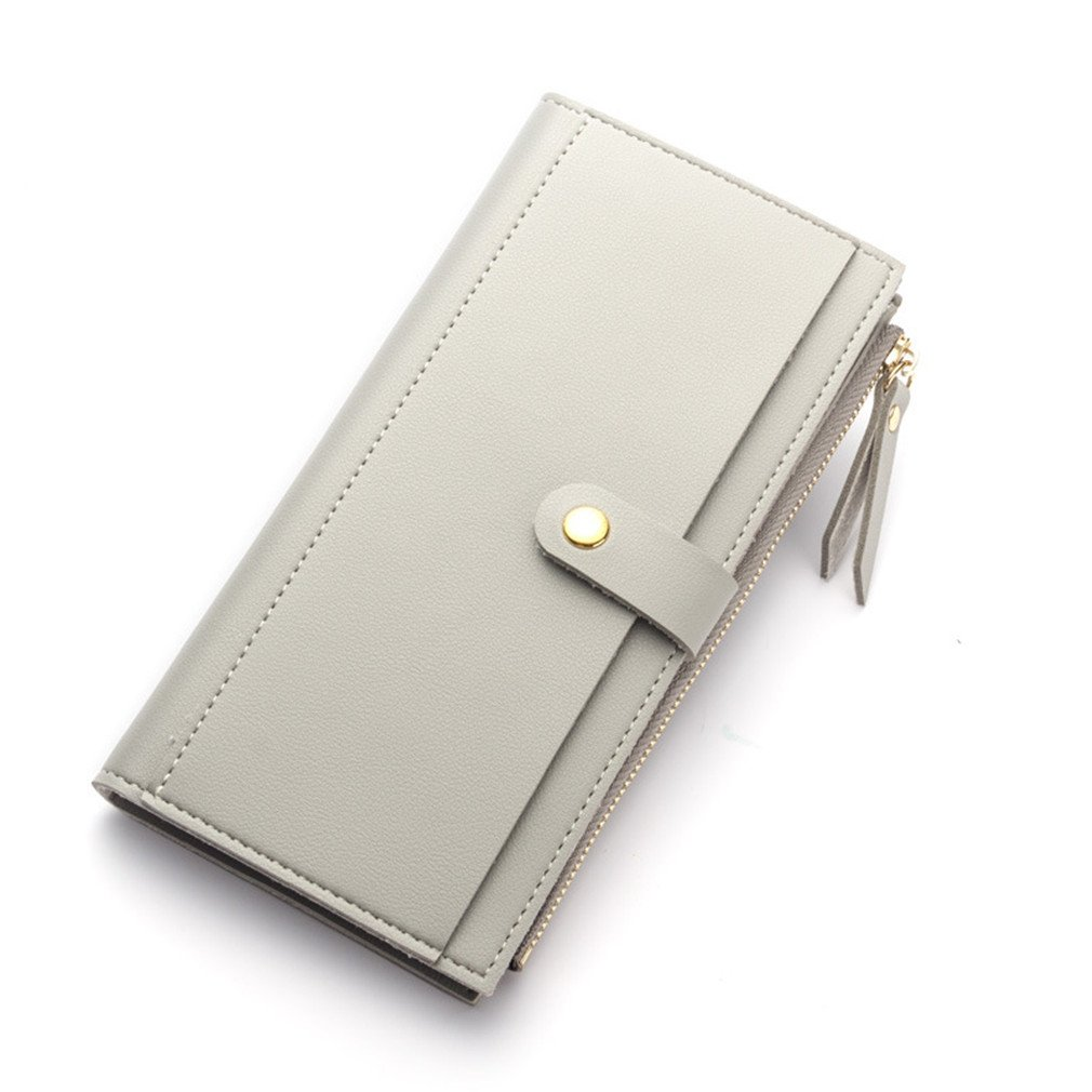 Zipper Women Soft Leather Long HASP Wallets Purse Clutch Thin Female Phone Coin Credit Card Holder