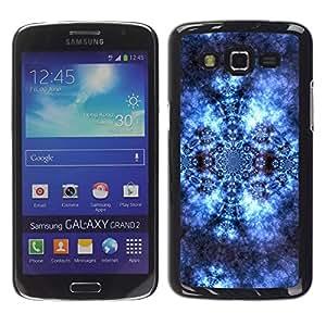 Smartphone Rígido Protección única Imagen Carcasa Funda Tapa Skin Case Para Samsung Galaxy Grand 2 SM-G7102 SM-G7105 Pattern Wallpaper Lace Universe Cosmos Blue / STRONG