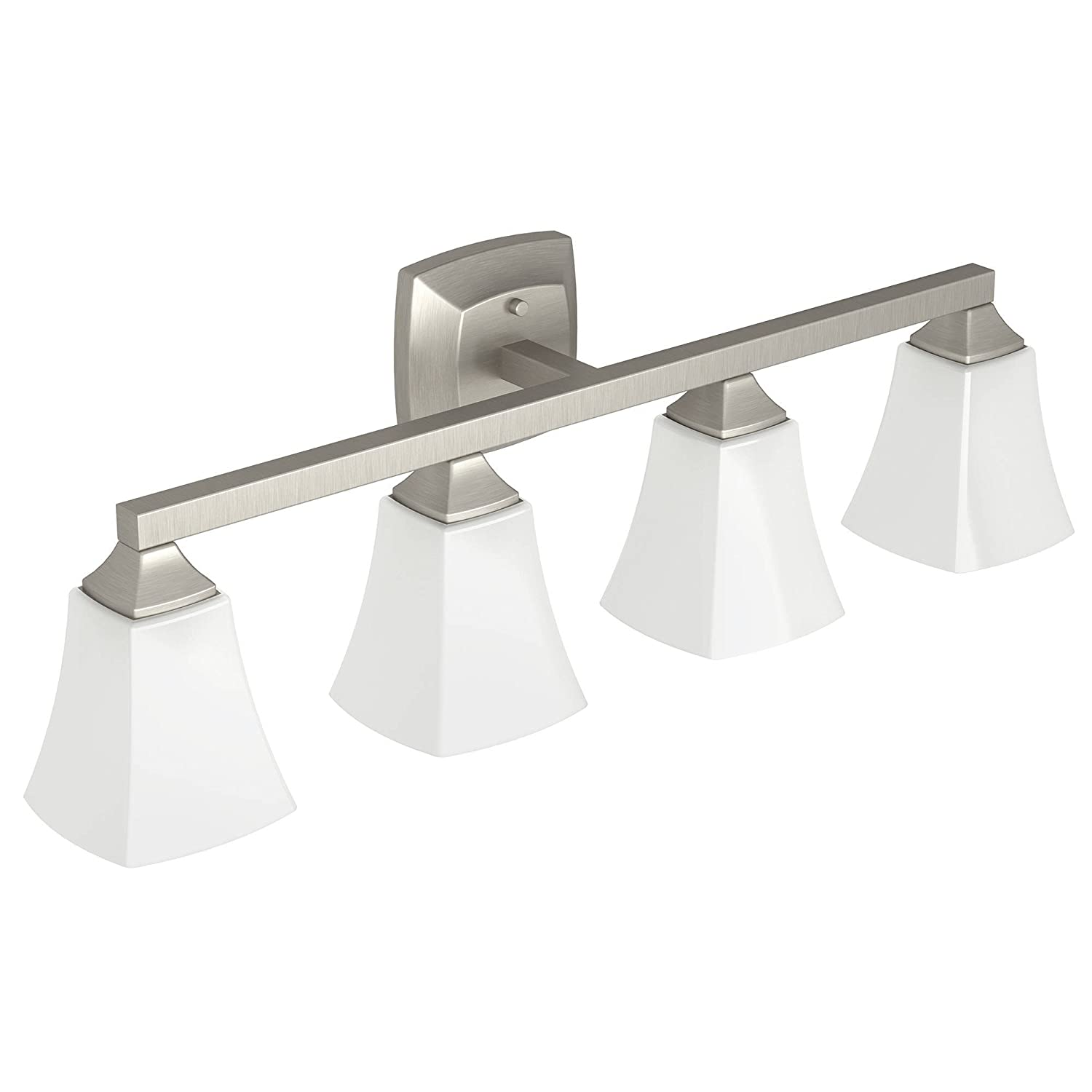 Moen yb5164bn voss bath lighting four globe brushed nickel moen yb5164bn voss bath lighting four globe brushed nickel amazon mozeypictures Image collections