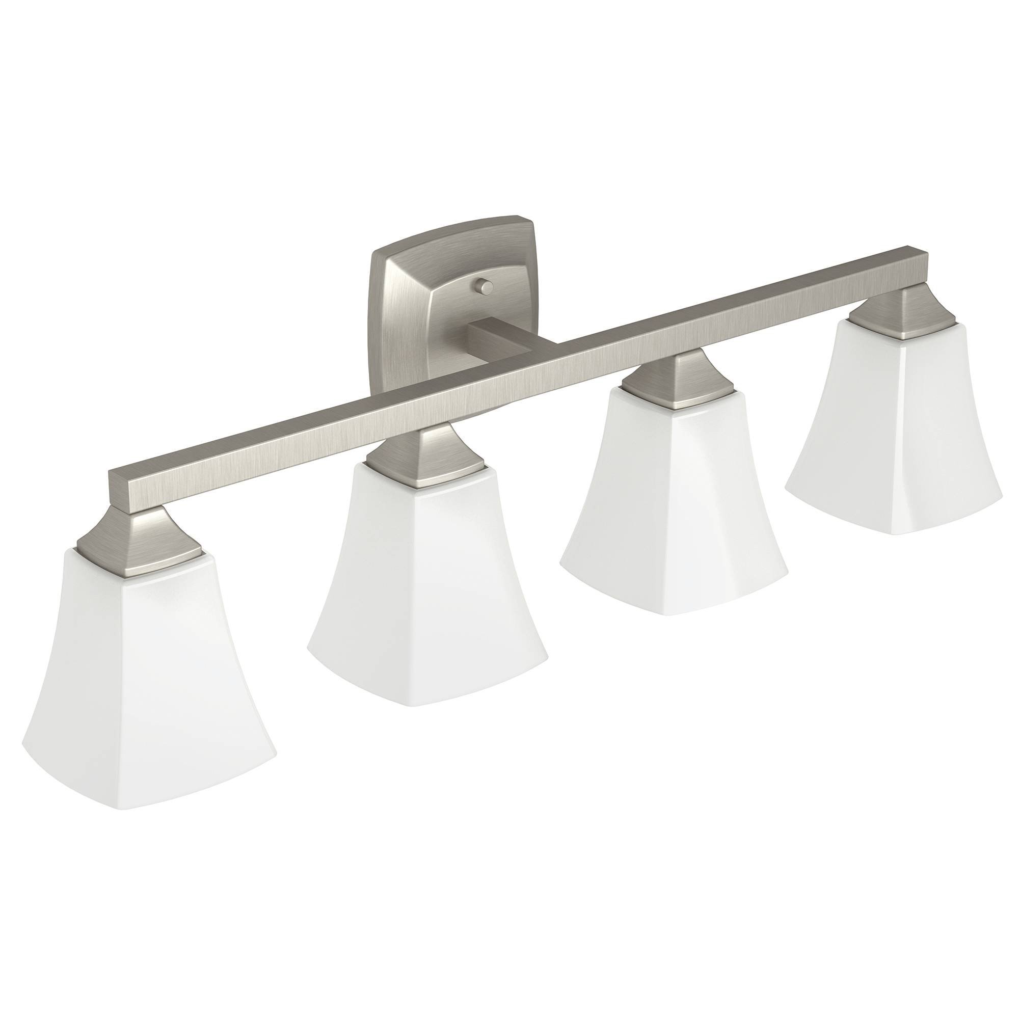 Moen YB5164BN Voss Bath Lighting Four Globe, Brushed Nickel by Moen
