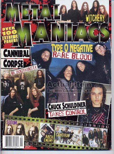 Metal Maniacs January 2000 Type O Negative, Cannibal Corpse, Witchery, Chuck Schuldiner/Control Denied