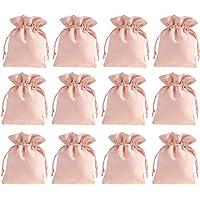 ABOOFAN 24 Stuks Flanellen Zakken Met Trekkoord 3. 54X2. 75 Inch Koord Geschenkzakje Sieraden Zakjes Voor Bruiloft en…