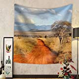Gzhihine Custom tapestry Beautiful landscape with tree in Africa - Fabric Wall Tapestry Home Decor