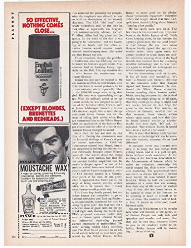 Stick Leather Deodorant English (1982 Vintage Magazine Advertisement English Leather Deodorant Stick)