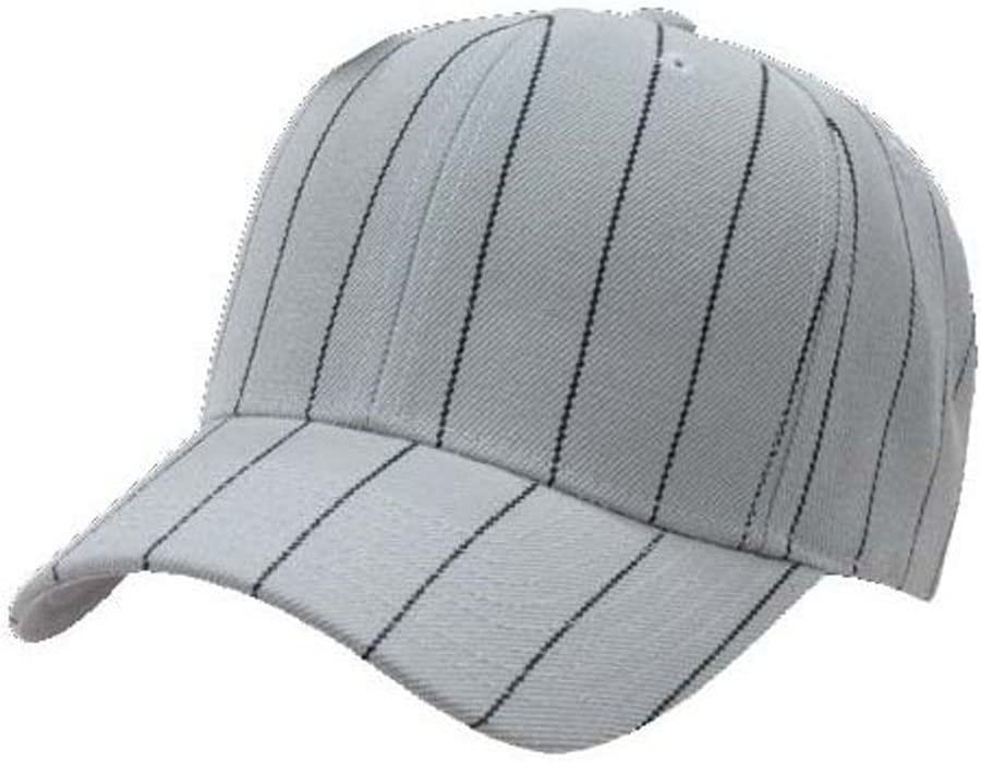 491755b82d0d1 Decky Pinstripe Baseball Adjustable Hat Cap