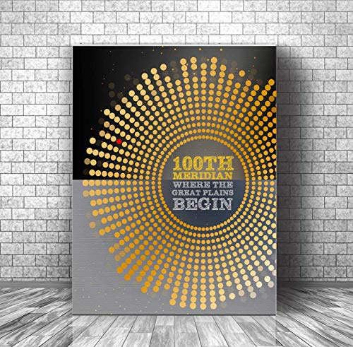 100th Meridian by the Tragically Hip - Song Lyrics Music Decor Print - Canvas or Plaque