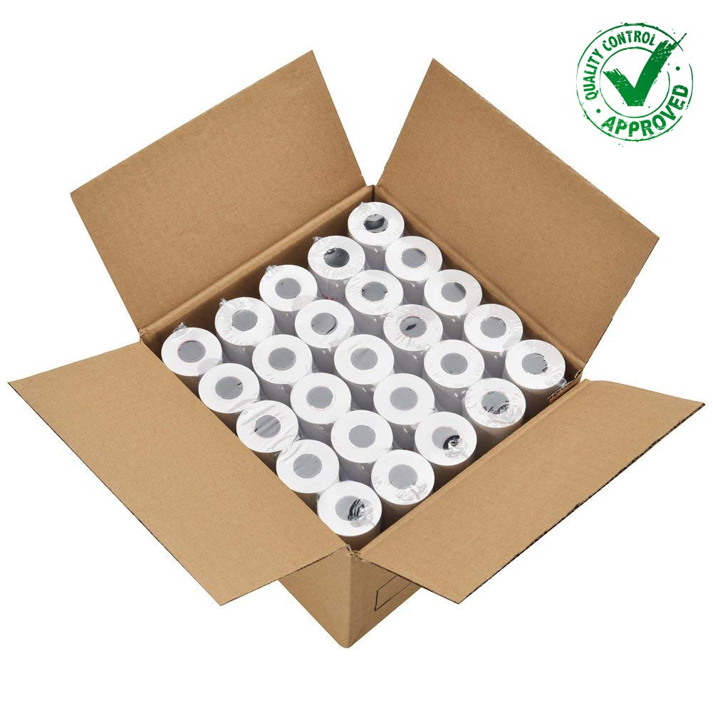 PAPRMA 2 1/4'' x 50' Receipt Paper Rolls POS Thermal Paper Cash Register Paper Rolls (50 Rolls) by PAPRMA