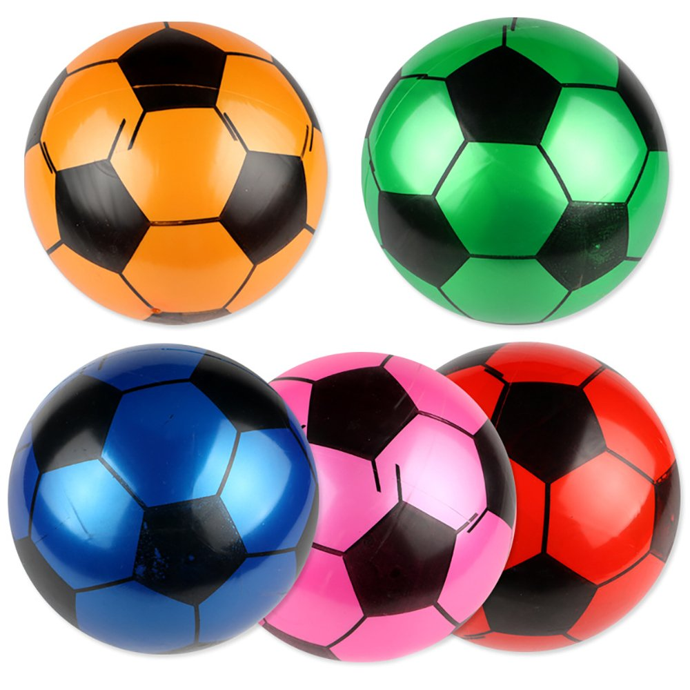 lzJz 5パックインフレータブルプラスチックFootball For Kidsまたは初心者ゲームと練習ソフトKick子供スポーツボールおもちゃ   B07DMXNC3V