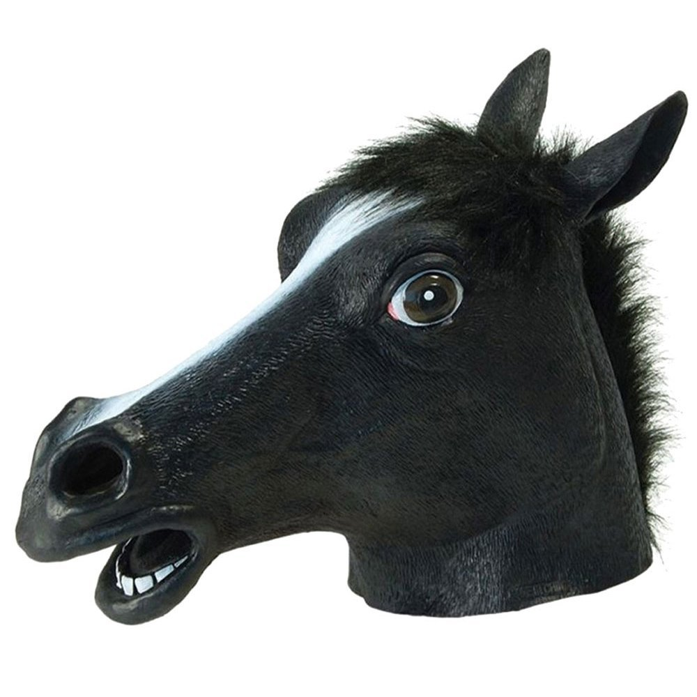 Autumn Water Full Head Mask Horse Head Mask Creepy Fur Mane Latex Realistic Crazy Rubber Super Creepy Party Halloween Costume Animal Mask by Autumn Water (Image #4)