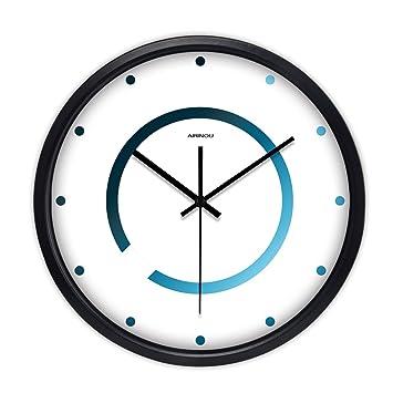 Mute Relojes Y Relojes Salón Dormitorio Creativo Moderno Simple Reloj De Cuarzo Reloj De Bolsillo (Color : B, Tamaño : 30cm): Amazon.es: Hogar