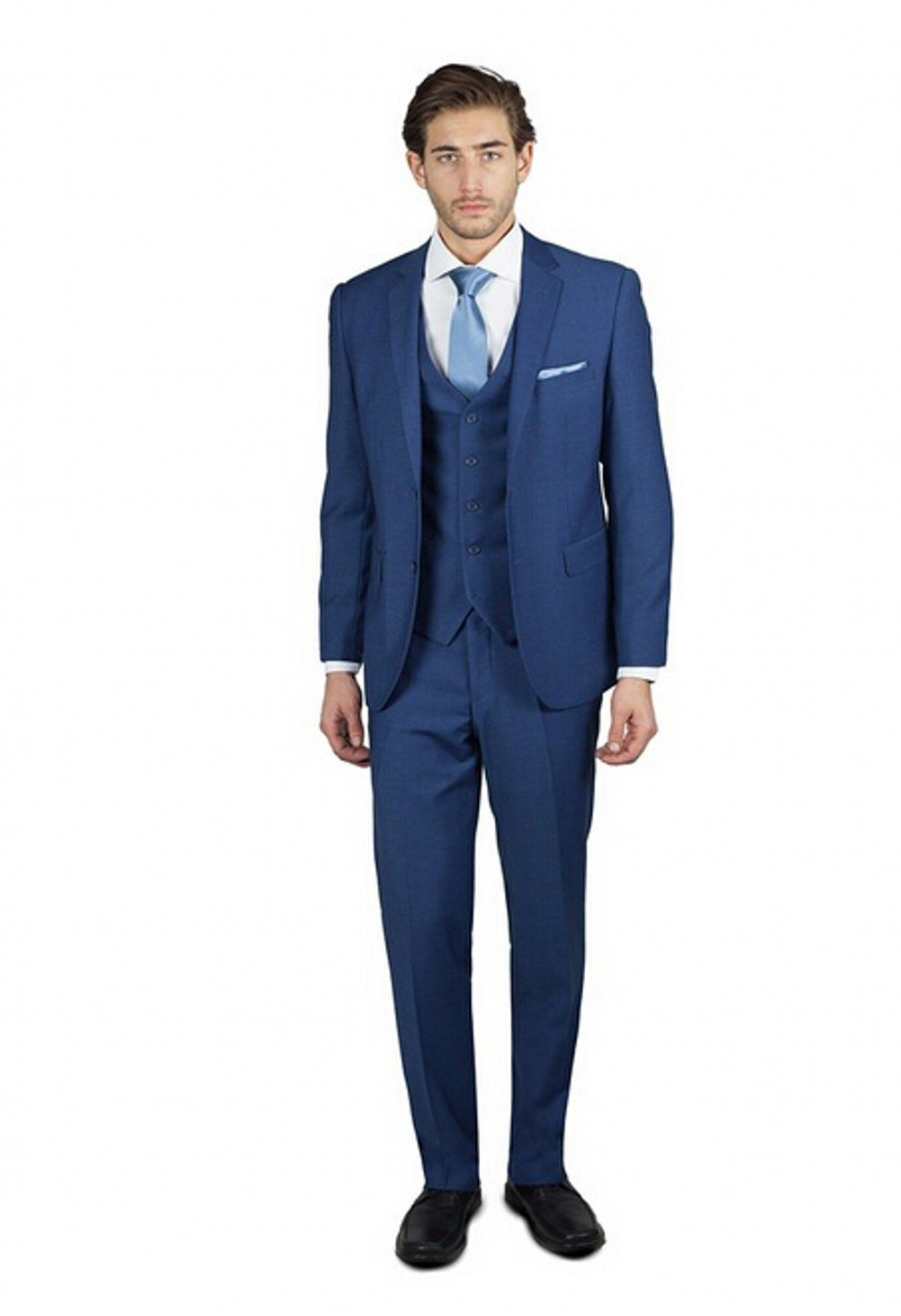 Love Dress Men's Three Piece Blend Suit in Many Colors Wedding Party Gown Blue 5XL