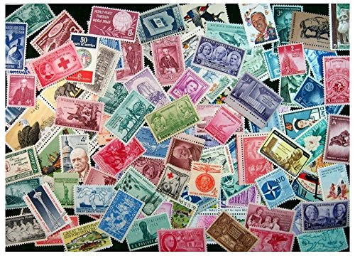 100 MINT US Postage Stamp Lot, all different ,1930s-1970s MNH UNUSED from Unbranded