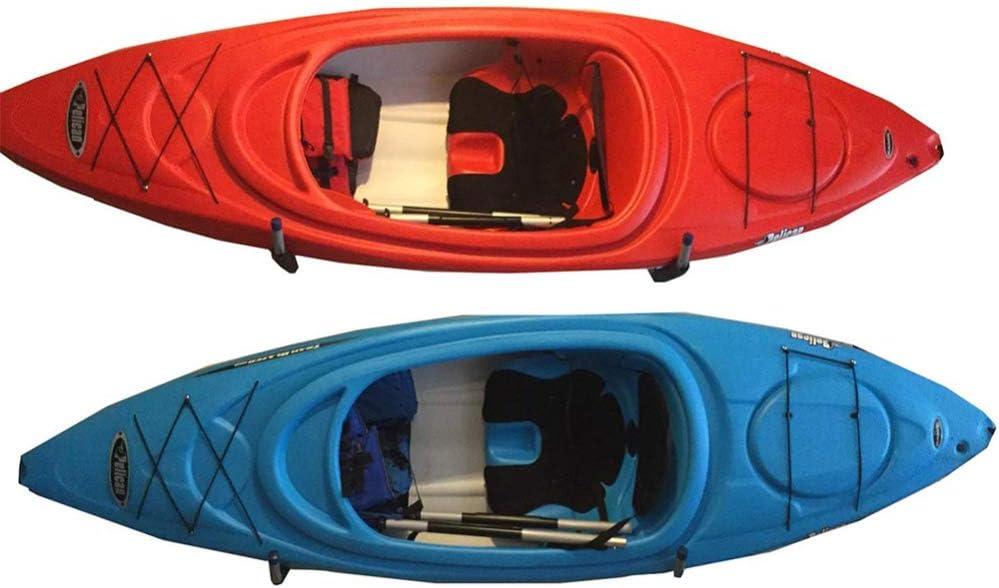 gris ganchos para escaleras de garaje de alta resistencia Paquete de 4 organizador de utilidad de suspensi/ón de almacenamiento de kayak montado en la pared de 24 cm para canoa sillas plegables