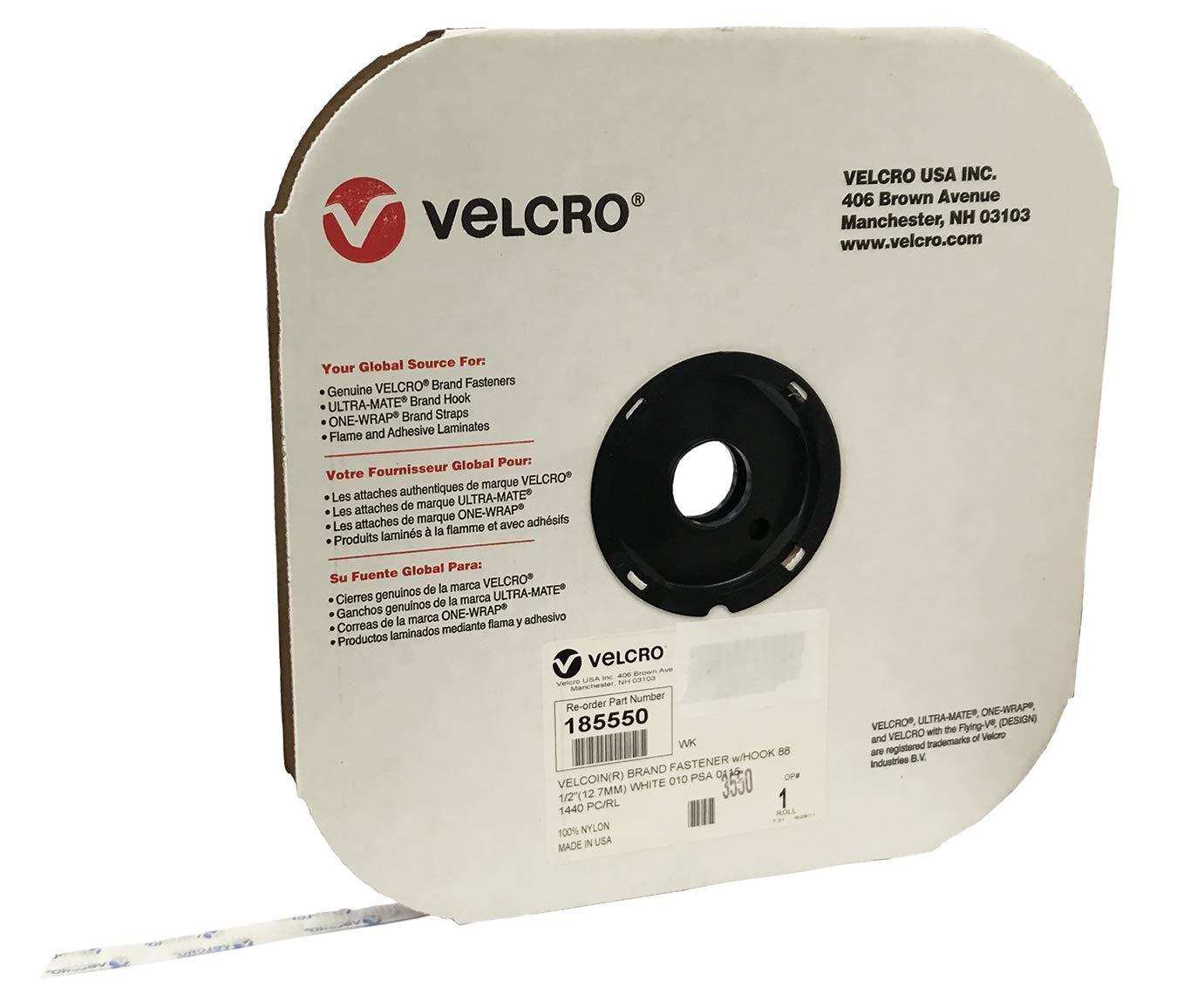VELCRO Brand VELCOIN Hook 88 PSA 15 White 1/2'' 1440 Coins per Roll by BlueCivet