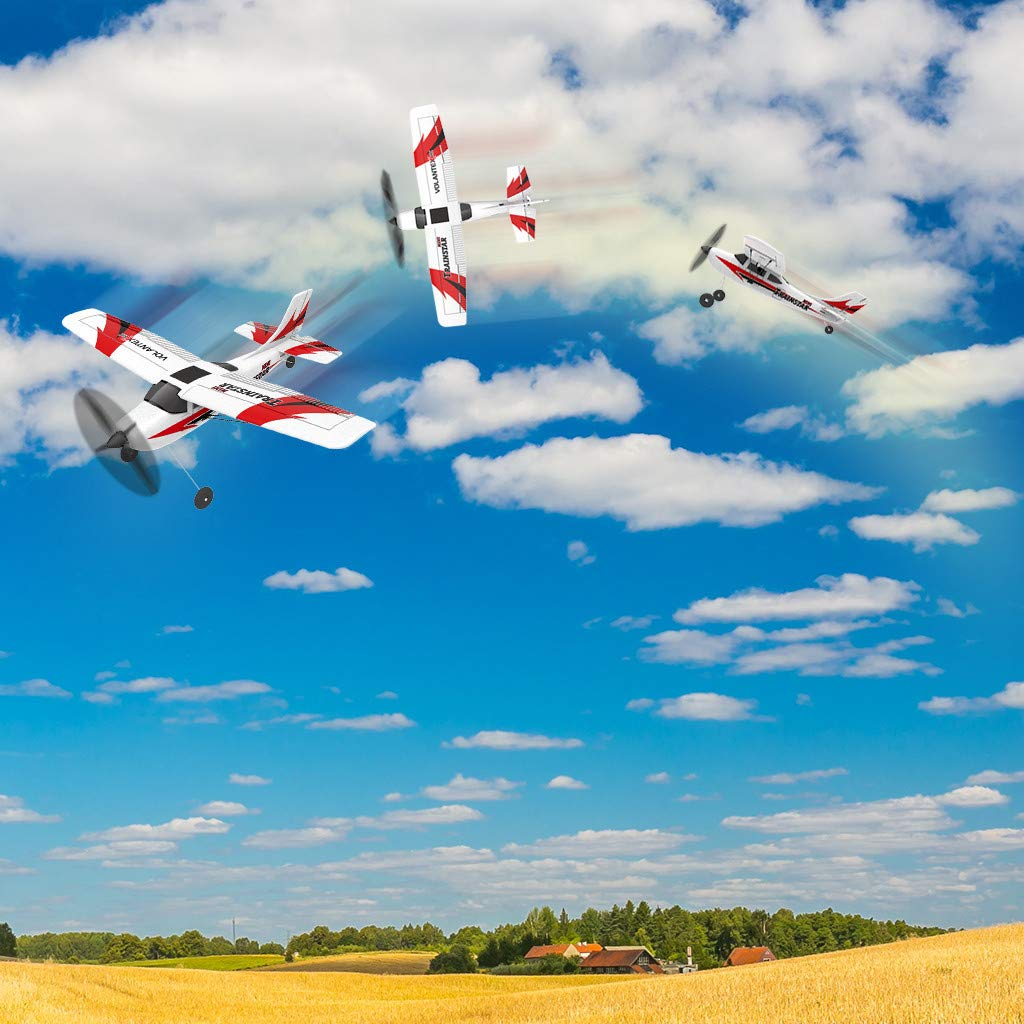 COLOR-LILIJ RC Airplane with 2.4GHz Over 320 ft Control, 6-Axis Gyro, 3-Level Flight Control assists - Help Beginners Learn to Fly Step by Step, Easy to Fly 761-1 RTF Plane for Beginners,US Stock by COLOR-LILIJ (Image #5)