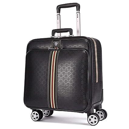 Amazon.com: Maleta de equipaje cuadrada de 16.0 in, 4 ruedas ...