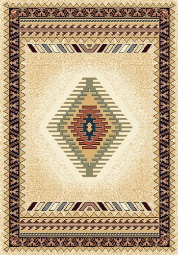 - United Weavers Manhattan Tucson Cream Southwestern Rug 1'10
