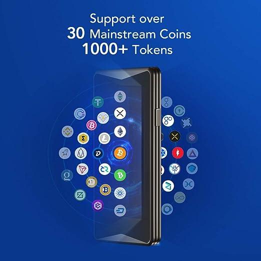 Billetera de herrajes – Ellipal Cryptocoin Cold Wallet Titan, Air-Gapped, Multi-Currency&Token Support