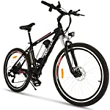 ANCHEER Electric Bike 250W/500W Ebike 26'' Electric Bicycle, 20MPH Adults Electric Mountain Bike with Removable 8/12.5ah…