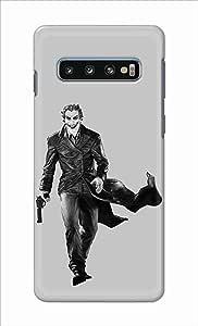 Okteq thin slim fit case forSamsung Galaxy S10 - jocker black and grey by Okteq