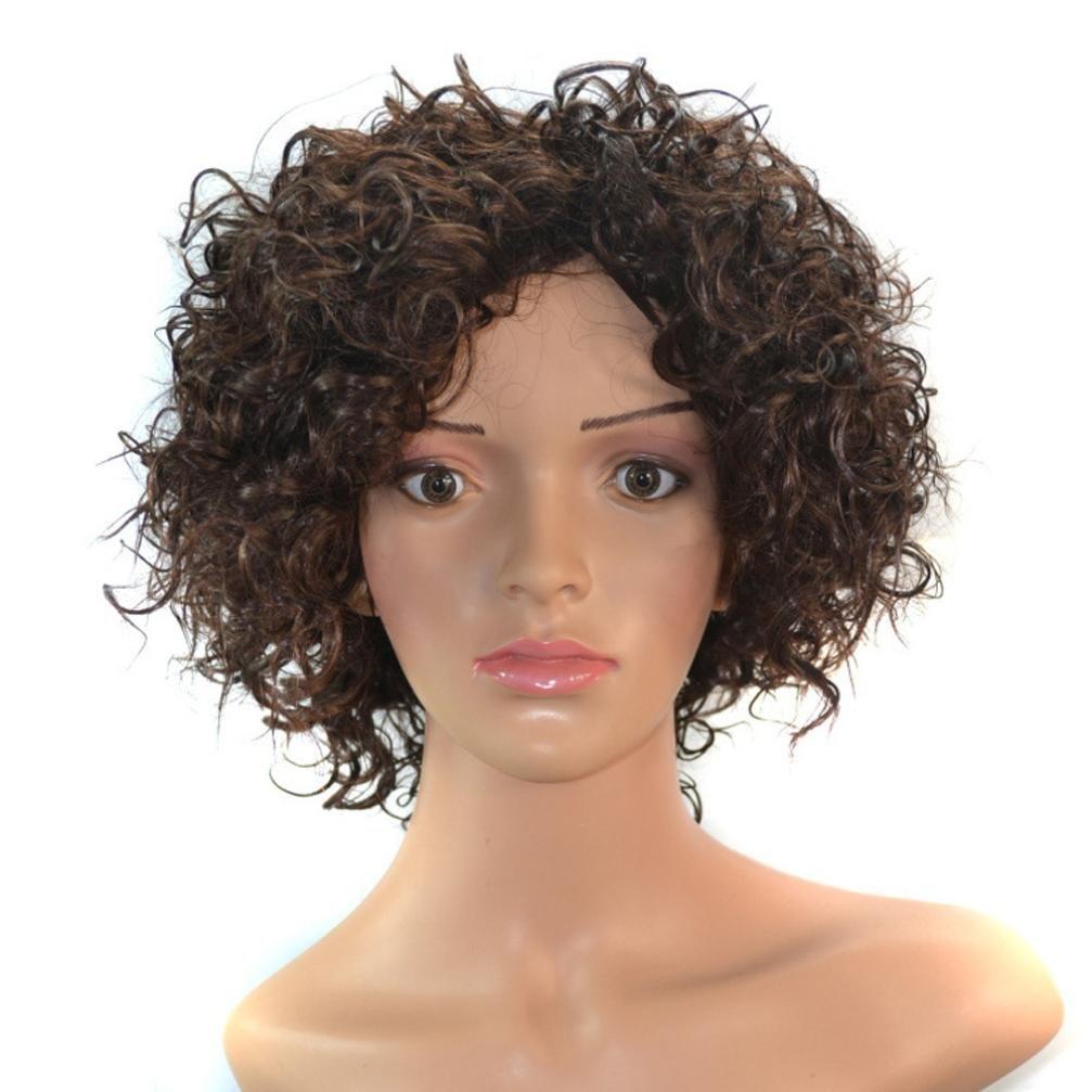 URSING Perruque Densité Naturelle Délié Femmes Spirale Printemps Boucles Kinky Curly Synthétique Dentelle Perruque Perruque Naturelle Bresilienne Femme Lace Front Frontal Cheveux Perruque courte pour Cheveux bouclés Perruques résistant à la chaleur Perruqu