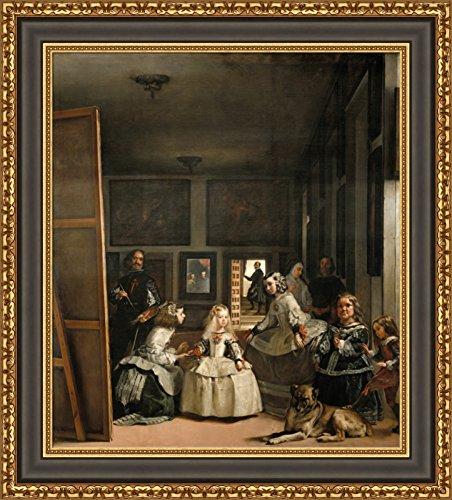 (V05-03-26) Diego_Velazquez_Las_Meninas_Framed_Canvas_Giclee_Print_W22_x_H25