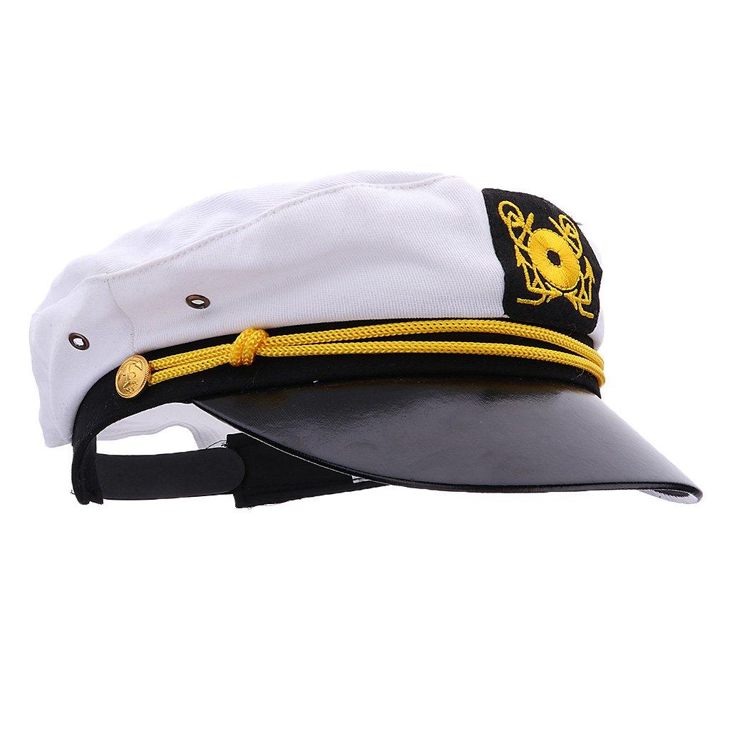 MonkeyJack Children Navy Cap Sailor Boat Captain Yacht Skipper Costumes Flat Top Hat