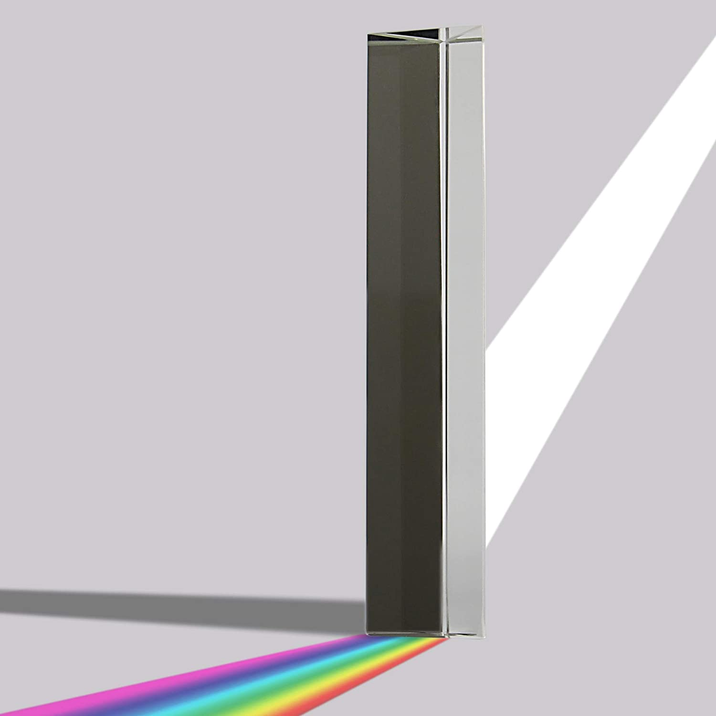 Maison & White Prisma de cristal claro | Lente de vidrio de 150 mm Cristal de foto | Enseñanza del espectro de luz | Idea ideal de regalo: Amazon.es: ...