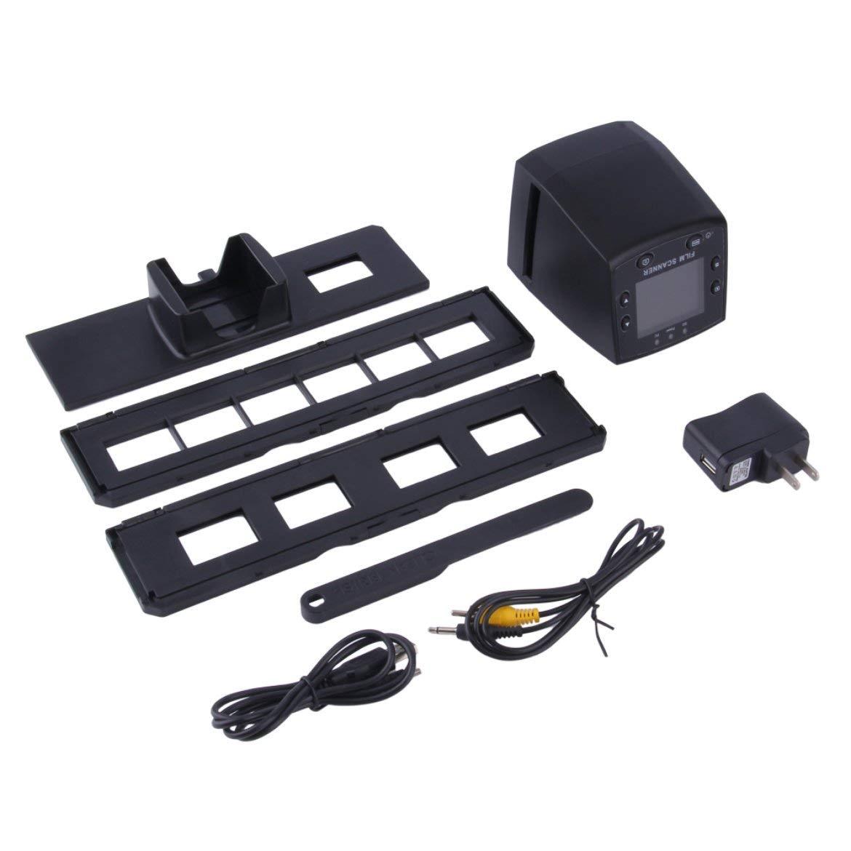 5 megapixel 35mm Negative Film Scanner per diapositive Scanner USB Color Photo Copier Built-In Schermo LCD a colori da 2, 4 pollici - Nero Harlls