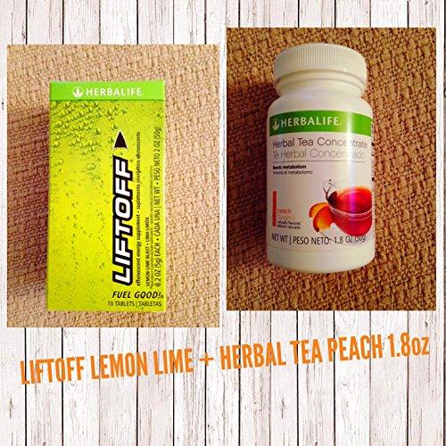 Peach Lift - LIFT OFF LEMON LIME + HERBAL PEACH TEA 1.8 OZ ENERGY ENDURANCE WEIGHT LOSS HERBALIFE
